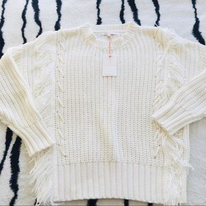 NWT Skies are Blue Fringe Knit Sweater